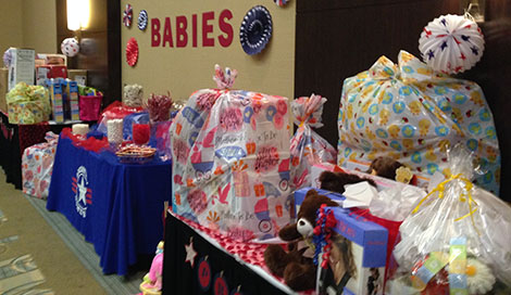 operation homefront, baby shower